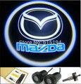 Бесплатная доставка двери автомобиля фары из светодиодов Mazda логотип двери свет проектора автоаксессуары приветствуем фары для Mazda 3 Mazda 5