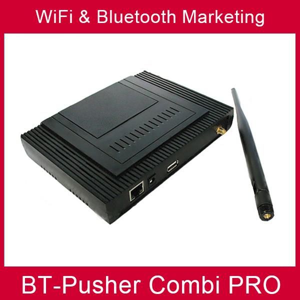 BT-Pusher wifi &bluetooth mobiles proximity marketing device COMBI PRO used in Advertising screen