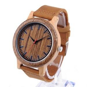 Image 4 - BOBO VOGEL WM14 Wenge Holz Uhr für Männer Kühlen Ahorn Holz Quarz Uhren in Geschenk Box