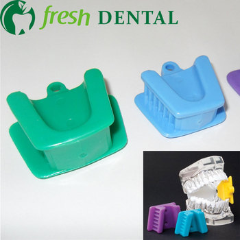 300PCS Dental Cheek retractor Mouth Prop Silicone Rubber Mouth Opener Bite pad Holder 3 sizes colors TW117