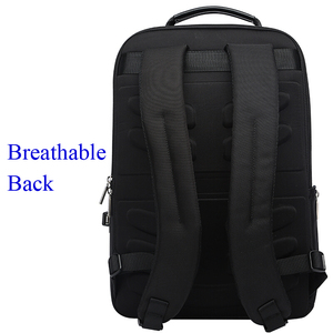 Image 3 - BOPAI 2018 Men Laptop Backpack 15.6 Inch Daily Work Backpack Men Black Leather Schoolbag High School back pack mochila escolar