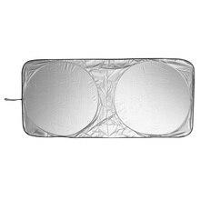 150×70 см автомобиля Защита от солнца тени спереди Защита от солнца на заднее стекло авто Плёнки лобовое стекло козырек крышки УФ-защиты Отражатели автомобиля стиль высокое качество