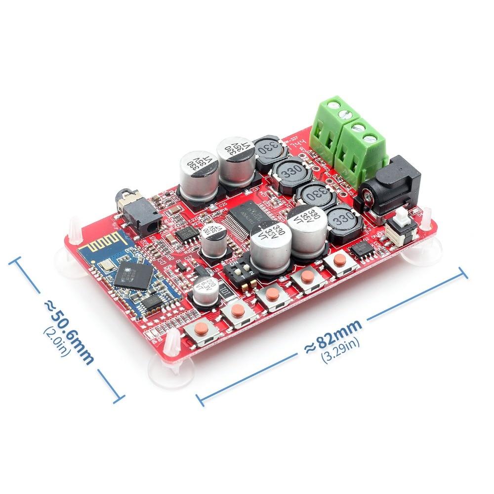 Tda7492p 25 w + 25 w bluetooth 4.0 receptor de áudio digital sem fio placa amplificador