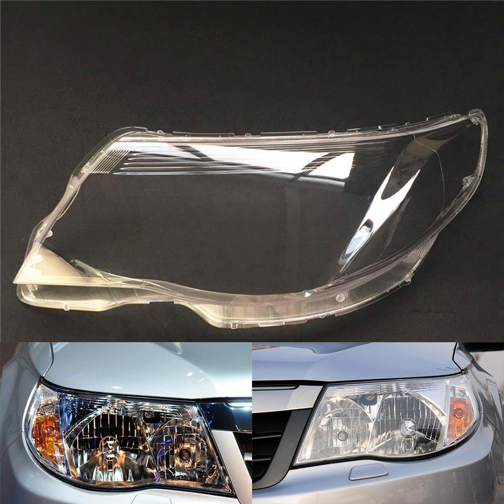 For Subaru Forester 2009~2012 Car Headlight Headlamp Clear Lens Auto Shell Cover