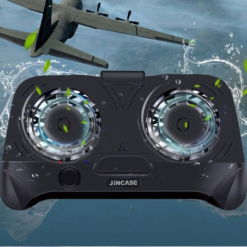 HTMOTXY Handy Cooling Pad Gaming Kühler Kühler Stumm Fan Kühlkörper Mit Telefon Ständer Halter Tragbare Aufladbare Power