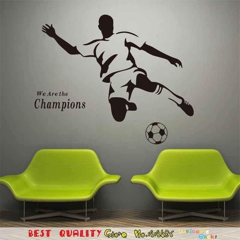 Voetbal Jongen Sport Thuis Decals Muurstickers Behang Sticker ...