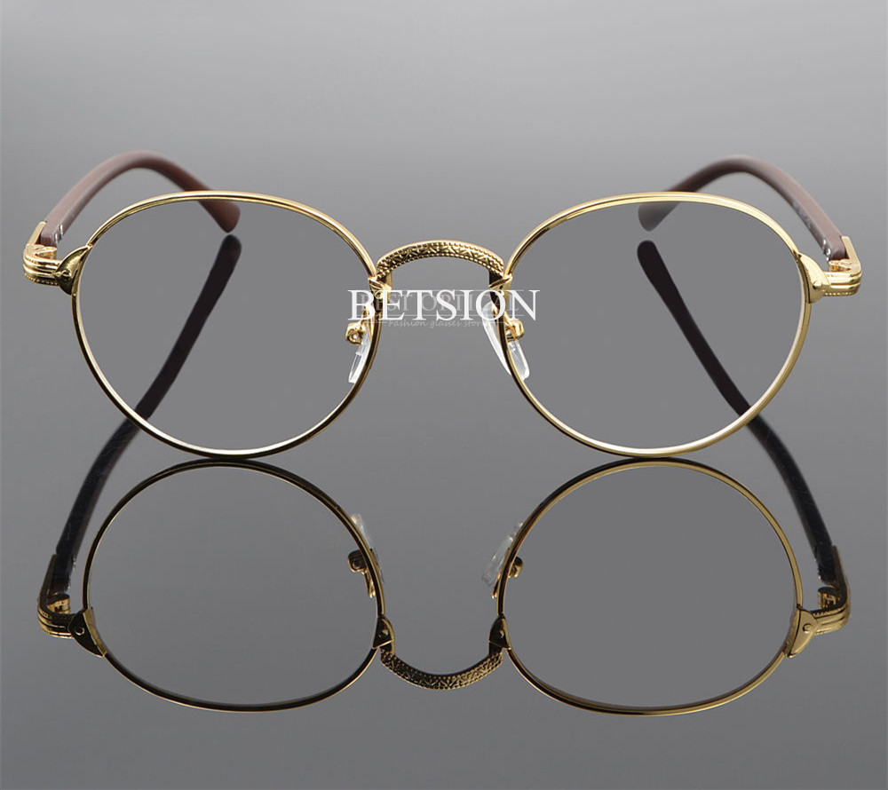 d4028c1015 BETSION Vintage Oval Gold Eyeglass Frame Man Women Plain Glasses Clear Full  Rim Spectacles -in Eyewear Frames from Apparel Accessories on  Aliexpress.com ...