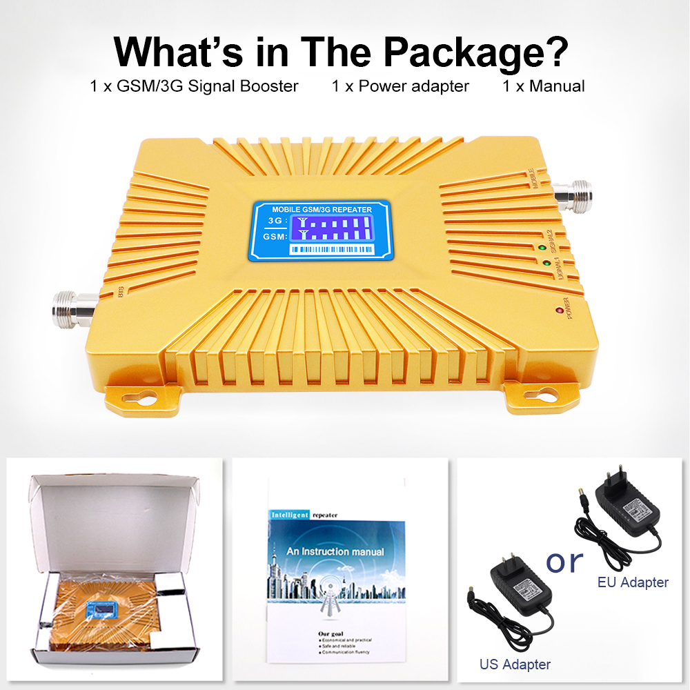 Smart Dual Band 900 2100 Repeater UMTS Gsm 2g 3g 4g WCDMA 2100mhz 900mhz Cell Mobile