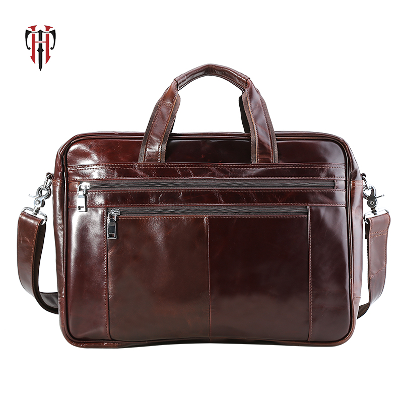 TIANHOO 17inch laptop man bags genuine leather briefcase crossbody fashionable messenger handle bag for men male tote businessTIANHOO 17inch laptop man bags genuine leather briefcase crossbody fashionable messenger handle bag for men male tote business