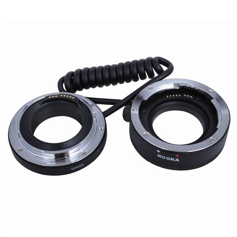 KOOKA KK-MRA5CA Aluminum Alloy Autofocus Macro Reverse Lens Adapter Rings Kit for Canon DSLR Camera EF EFs Lenses Reversing Ring