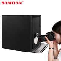 SAMTIAN F40 LED Light Box Photo Studio Box 40*40CM Folding Softbox Portable Photo Tent For Camera phone Photography