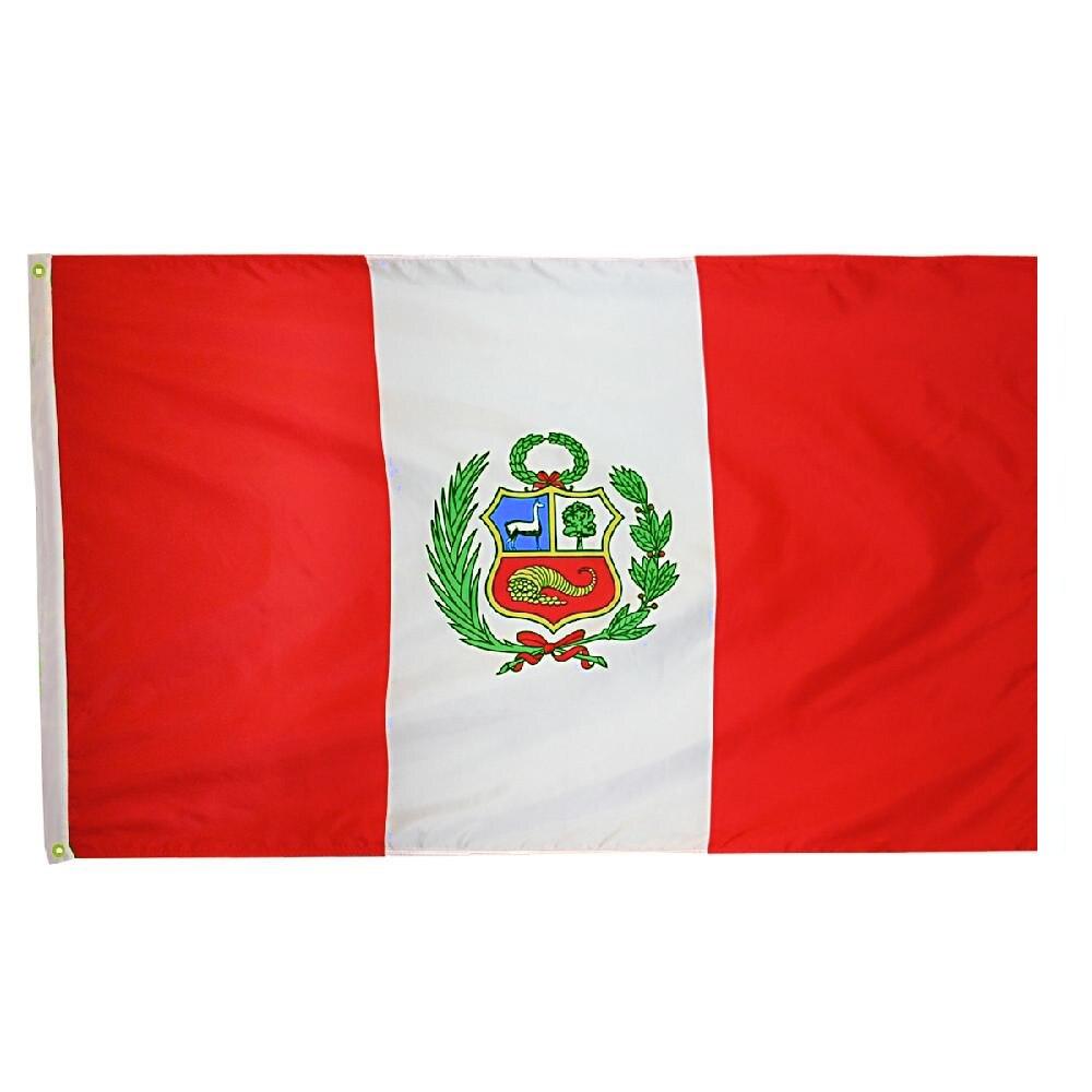Johnin 90*150cm PER PE Peru Flag For Decoration