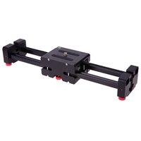 40 cm Mini Taşınabilir Geri Çekilebilir Slayt Demiryolu Video İzle Slider Sistemi Kamera 1/4 3/8 Vida Deliği ile Sürgülü Sabitleyici