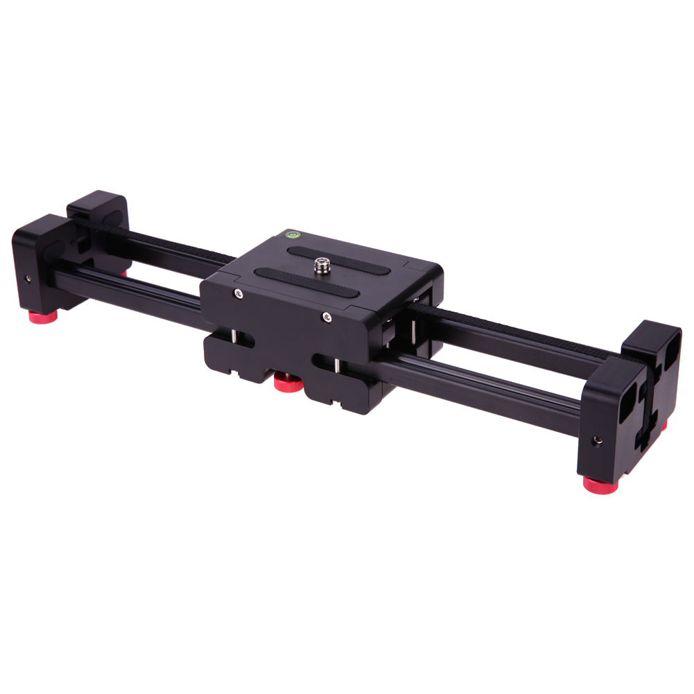 40cm Mini Portable Retractable Slide Rail Video Track Slider System Camcorder Sliding Stabilizer with 1/4 3/8 Screw Hole 60cm mini camera video slr stabilizer 3 axis silent damping slide portable compact track slider rail system