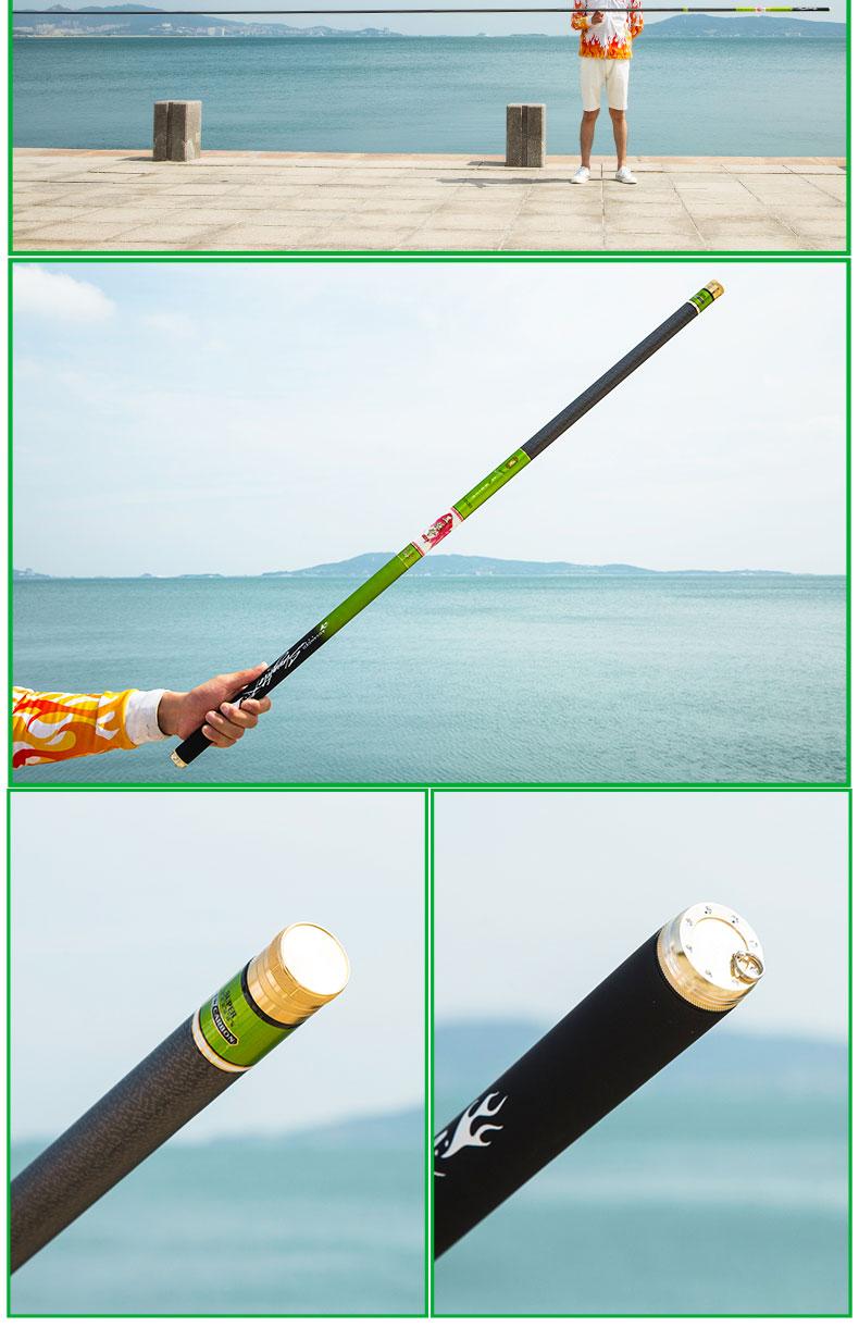 vara de Pesca Pólo de Carbono Equipamentos de Pesca Canne Olta Seti