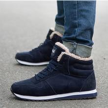 Зимняя мужская обувь Замшевые мужские ботильоны мужские зимние ботинки Теплая мужская обувь на меху с круглым носком, повседневная обувь на шнуровке