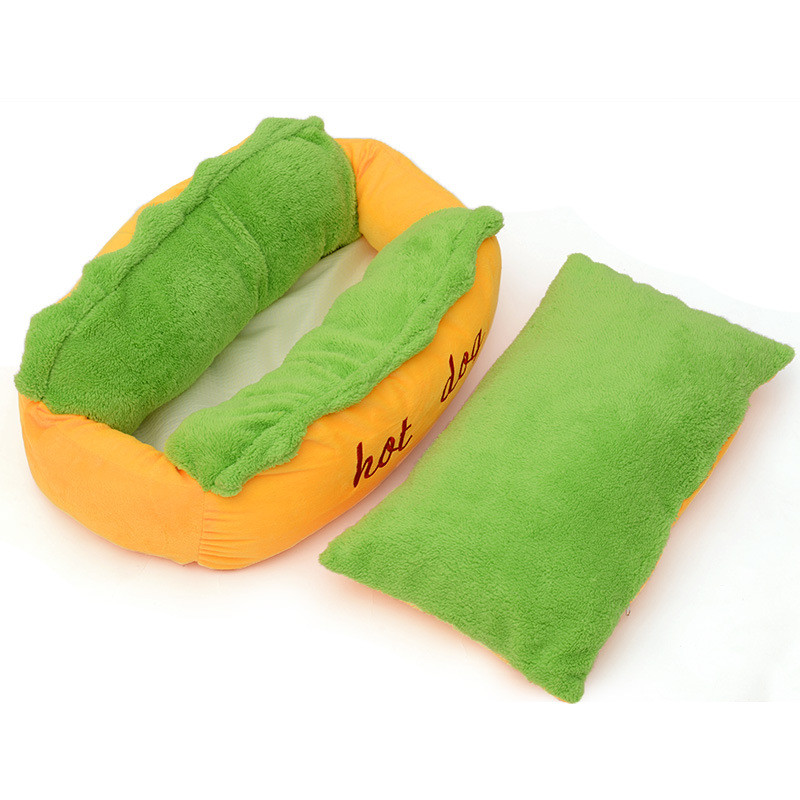 Hot Dog Design Dog Bed Pet Winter Beds Fashion Sofa Cushion Supplies Warm Dog House Pet Sleeping Bag Cozy Puppy Nest Kennel