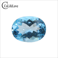 100 10 Ct Natural Sky Blue Topaz Loose Stone 12 Mm 16 Mm Oval Cut Topaz