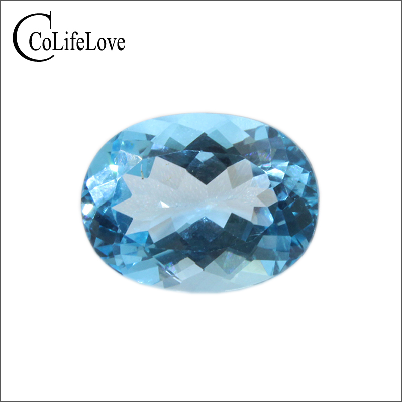 100% 10 ct natural sky blue topaz loose stone 12 mm * 16 mm oval cut topaz loose gemstone 100% 10 ct natural sky blue topaz loose stone 12 mm * 16 mm oval cut topaz loose gemstone