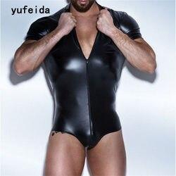 YUFEIDA مثير فو الجلود الرجال الملابس الداخلية ارتداءها ملابس تحتية للمصارعة سيامي الملاكمين مثلي الجنس حللا يوتار زي