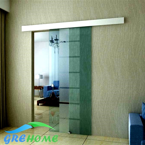 Merveilleux Online Shop 8.2FT Aluminium Alloy Frameless Barn Sliding Glass Door System  | Aliexpress Mobile
