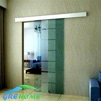 8.2FT Aluminium alloy frameless barn sliding glass door system