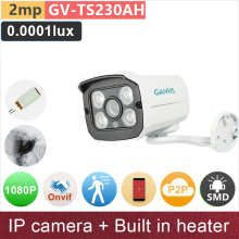 SONY STARVIS Built in heater 2mp 1080P full HD IP camera outdoor mini bullet starlight night