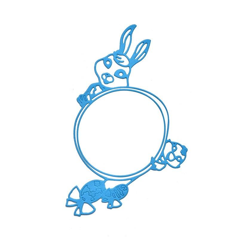 Кролики Naifumodo Умирают Банни Металлические Умирающие Металлические Умирают Скрапбукинг для