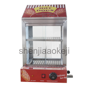 1pc Hot dog Bun insulation cabine Commercial Snack insulation cabinet Electric Sausage Hot Dog Cooker Hotdog Warmer 220v 1500w фото