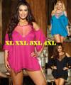 2017 Plus Size XL-4XL Babydoll Negligee Sexy Lady Nightdress Erótico Tentação Rendas Sleepwear Nightwear Sexy Baby Doll Chemise