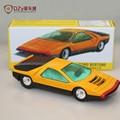 1:43 escala atlas dinky toys toys 1426 modelos de coches de metal fundido a troquel del vehículo bertone carabo automóvil recoger amarillo