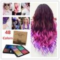 48 cores tintura de cabelo da moda Crayons cabelo partido cor decoração fácil temporária não tóxico cabelo giz