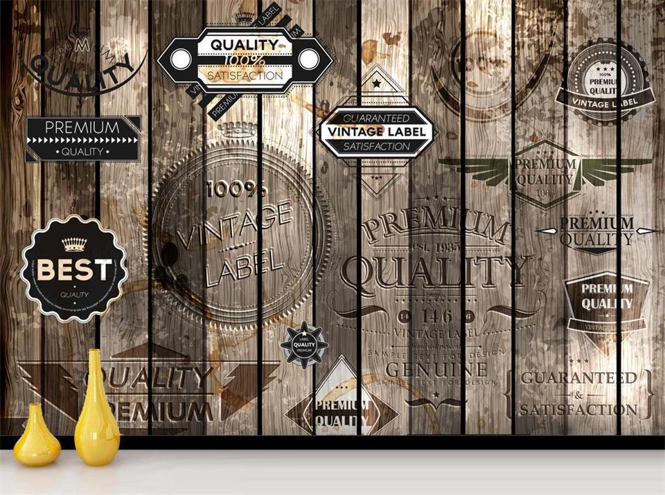 Custom 3d photo wallpaper livingroom mural LOFT retro wood to do the old graffiti flag backdrop photo non-woven photo wallpaper custom baby wallpaper snow white and the seven dwarfs bedroom for the children s room mural backdrop stereoscopic 3d