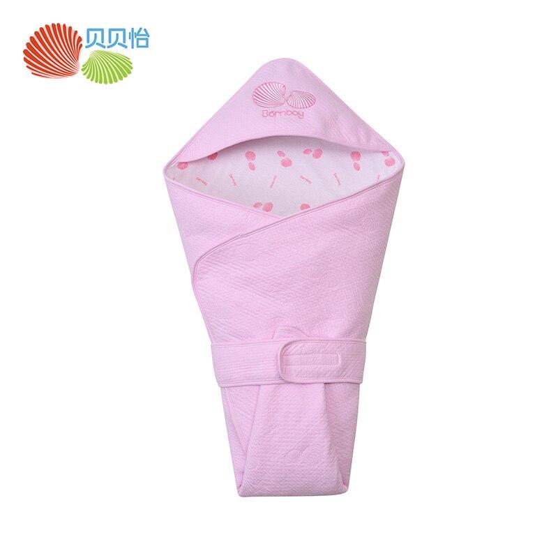 Bornbay Baby boy girl useful blanket Cotton newborn Receiving Blankets with hat baby outwear big towel baby keep wear towels