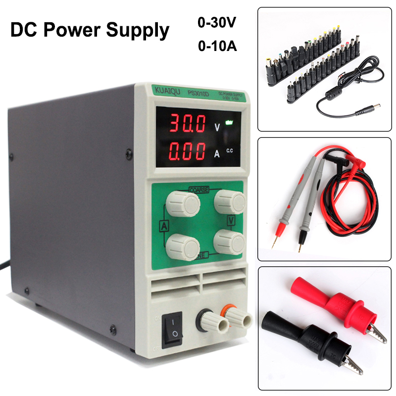 Switch DC Power Supply 30V/10A Latest PS3010D High precision Adjustable with protection function double LED display 30v 5a dc regulated power high precision adjustable supply switch power supply maintenance protection function kps305df