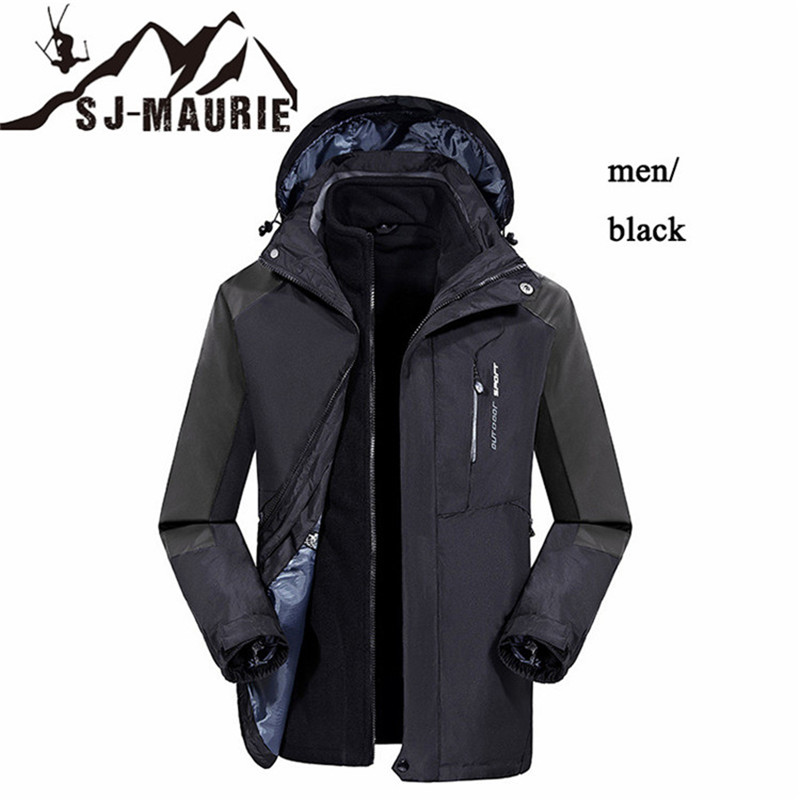 Men Women Ski Jacket Winter Snowboard Coat Jacket+Lining Fleece Outdoor Hiking Jacket Waterproof Windproof Breathable Clothes цена 2017