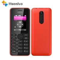 108 Original Nokia 108 FM Radio Dual SIM Cards Good Quality Unlocked Mobile Phone refurbished