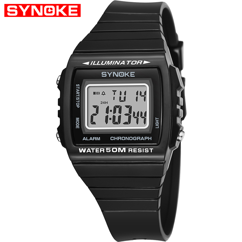 SYNOKE 2019 Best Fitness Men's Watch Digital G Wristwatch Luxury Watch Sport Waterproof Shock Vintage Watches Gift For Men Watch