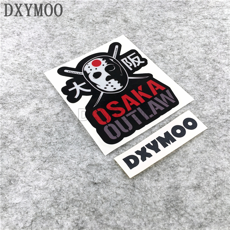 Car Stickers Japanese JDM Auto Whole Body Window Motorcycle Decals for Japan OSAKA OUTLAW 10.7x9cm auto rain shield window visor car window deflector sun visor covers stickers fit for toyota noah voxy 2014 pc 4pcs set
