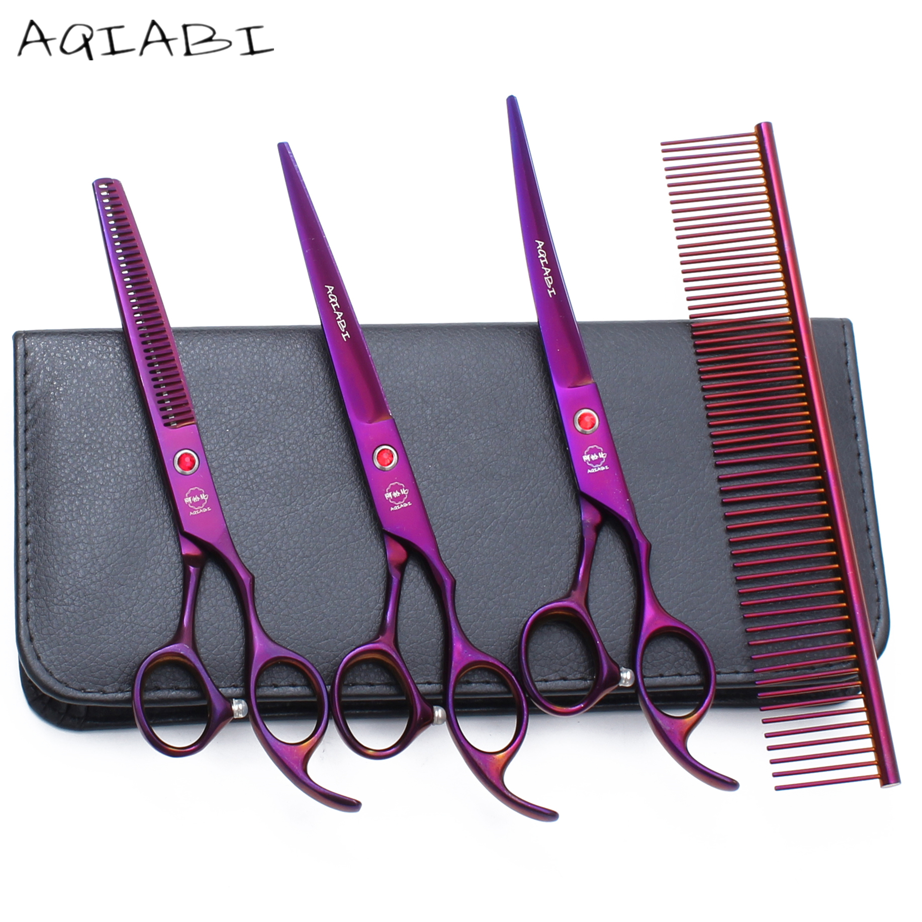 A3003 7 19.5cm Hand Made Professional Grooming Scissors Pet Shop & Home Dogs Cats Animals Hair Shears Haircut Scissors SuitA3003 7 19.5cm Hand Made Professional Grooming Scissors Pet Shop & Home Dogs Cats Animals Hair Shears Haircut Scissors Suit