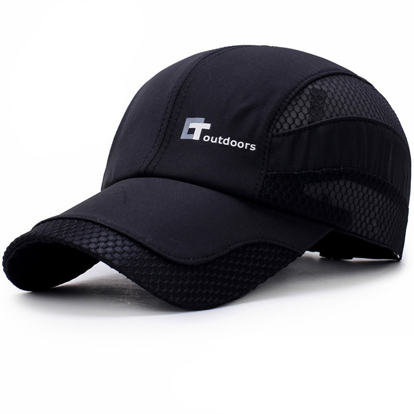 2018 New Summer Men Baseball Cap Polyester Hiking Snapback Hat Solid Outdoor Hat Quick-Drying Mesh Cap Adjustable Sport Dad Hat new cotton tactical baseball cap seals punisher american sniper army snapback hat baseball cap for men