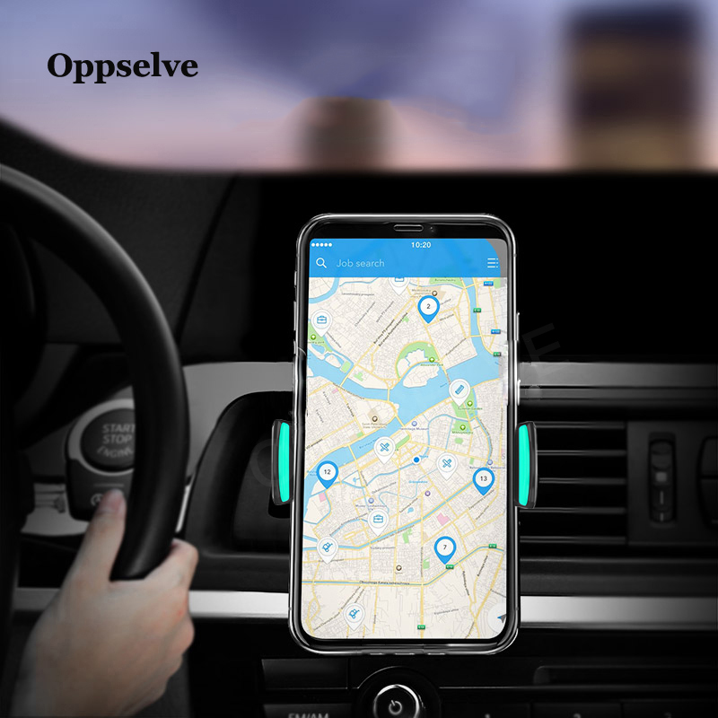 Car Phone Holder Air Vent Monut Holder Stand Universal 360 Degree Adjustable In Car Holder For IPhone X 9 8 7 Cell Mobile Phone