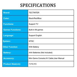 Image 5 - 8 битная мини консоль для видеоигр, игроки со встроенными 89 классическими играми, поддержка ТВ выхода, портативная игра