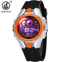 OHSEN Boys Kids Children Digital Sport Watch Alarm Date Chronograph 7 Colors LED Back Light Waterproof