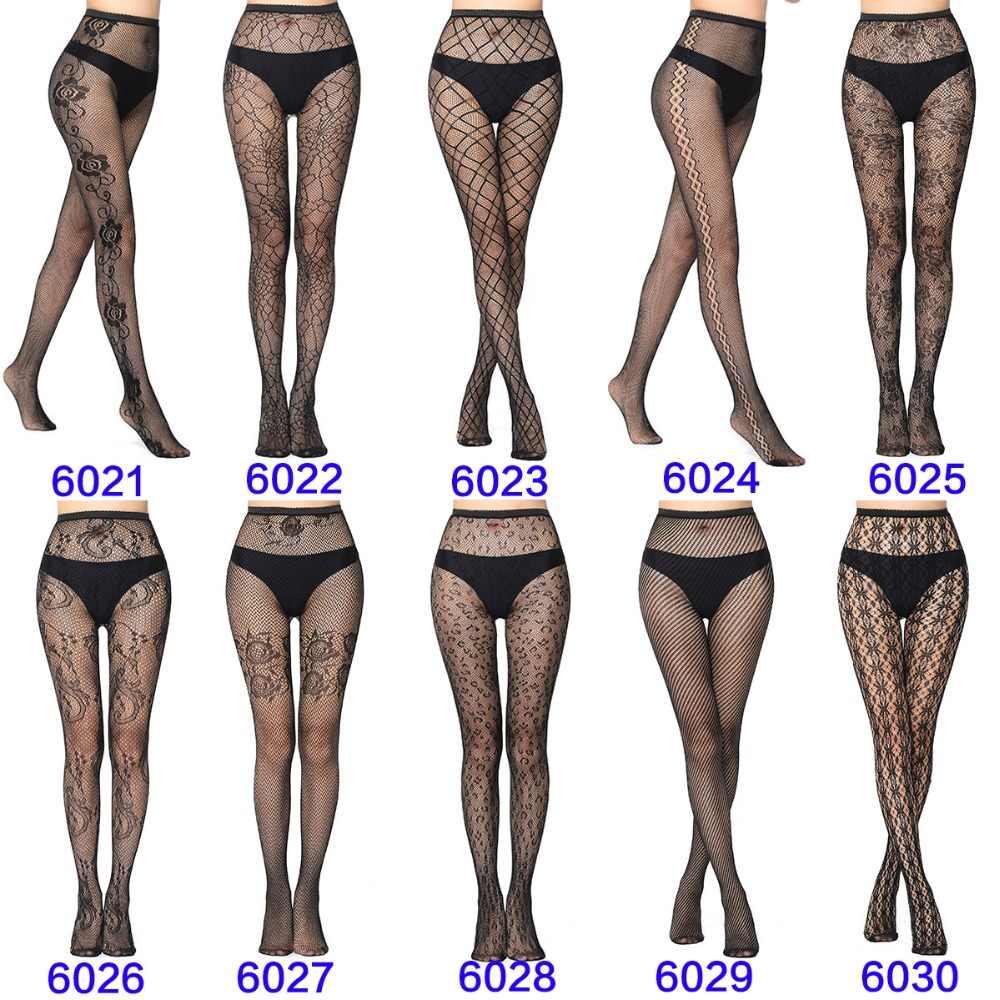Hot Koop! 27 stijlen Vrouwen Sexy Panty Zomer Nylon Panty Kousen Stap Voet Naadloze Panty Visnet Mesh Print Collant