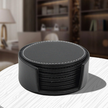 6pcs Coasters PU Leather Placemat for Dining Table Drink Cup Holder Protect Christmas Mat Korean Kitchen Tools 02