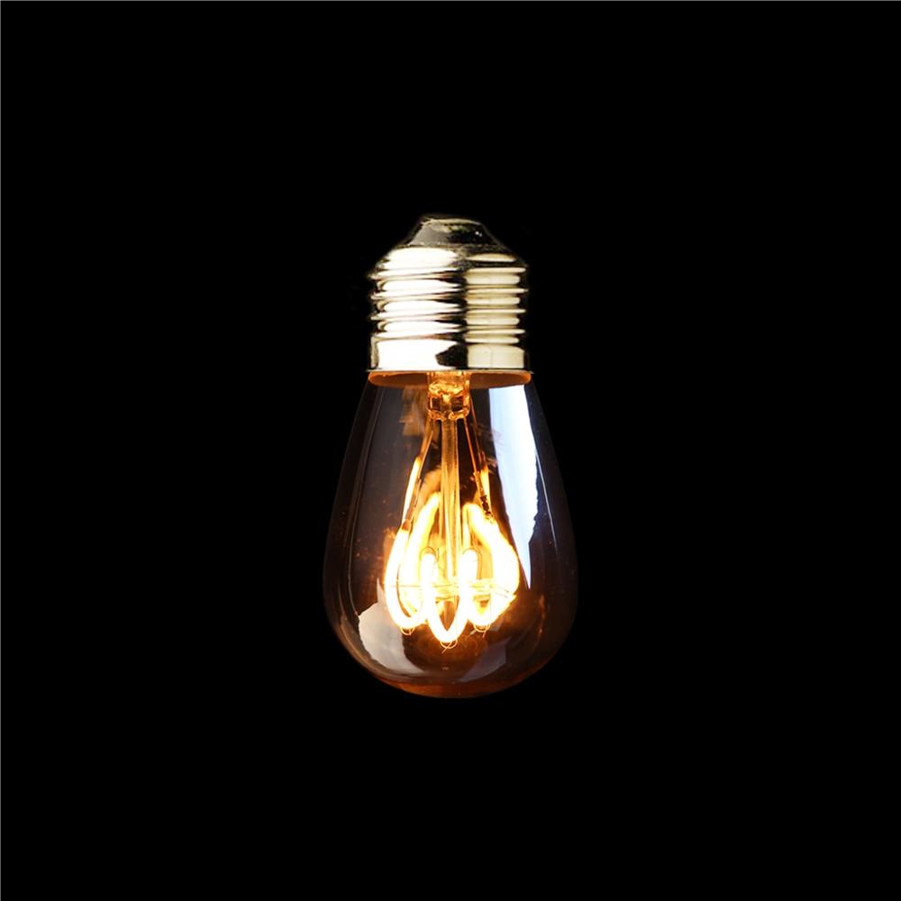 ST45 Amber Shape,3W Dimmable Edison LED Spiral Filament Bulb ,Super warm 2200K,E26 E27 Base,Decorative Household Lighting a130 big edison led bulb e27 spiral