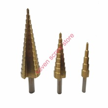 3Pcs lot 4 12 20 32mm Professional HSS Steel Large Step Cone Titanium Coated Metal Drill