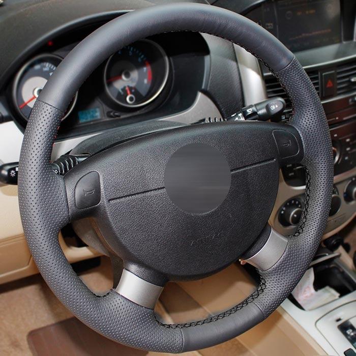 Véritable Cuir de voiture-le style volant couverture pour Chevrolet Lova Aveo Buick Excelle Daewoo Gentra 2013-2015 Lacetti 2006-2012