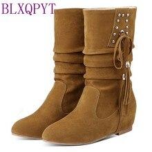 Chaussures hautes aux genoux pour Femme, bottes, taille 30-52, 7900-1, Style automne